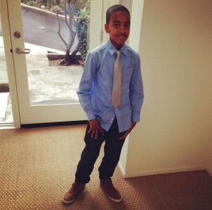 draya kniko son dressed up
